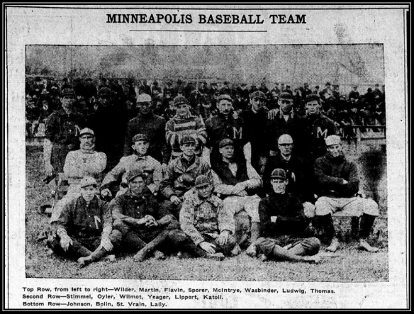 Minneapolis Journal - 1903 Mpls Baseball team - home opener b fr